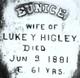 Eunice <I>Mather</I> Higley