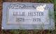 "Lillian Nora ""Lillie"" <I>Perry</I> Hester"
