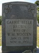 Profile photo:  Carrie Belle <I>Brown</I> Wooten