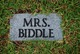 Profile photo: Mrs Biddle