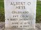 Profile photo: Pvt Albert O. Hess