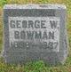 Profile photo:  George W Bowman