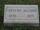 Caroline <I>Wisecarver</I> Allison