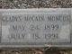 Gladys <I>McCain</I> Moncus