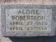 Profile photo:  Aloise Robertson
