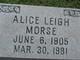 Profile photo:  Alice Leigh Morse