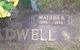 Matilda B. <I>Burns</I> Gradwell