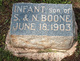 Infant son of S. & N. Boone