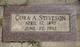 Cora A Steveson