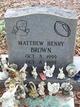 Matthew Henry Brown