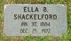 Ella B <I>Crossett</I> Shackelford