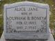 Alice Jane <I>Wooten</I> Boney