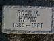 Rose M. Hayes