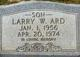 Profile photo:  Larry W Ard