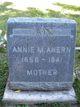 Profile photo:  Annie M. Ahern