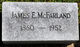 Profile photo:  James E. McFarland