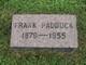 Profile photo:  Frank Paddock