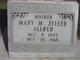 Profile photo:  Mary Magdelina <I>Zeller</I> Allred