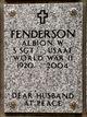 """Profile photo:  Albion William """"Al"""" Fenderson"""