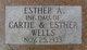 Esther Arbell Wells