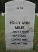 Polly Ann <I>Eichelmann</I> Miles