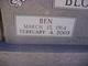 "Charley Benjamin ""Ben"" Bloxom"