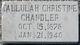 Tallulah Christine <I>Jones</I> Chandler