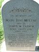 "Martha Jane ""Mary"" <I>McEwen</I> Farrer"