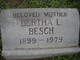 Profile photo:  Bertha Louise <I>Obadd</I> Besch