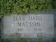 Profile photo:  Elsie Hazel <I>Wohlfahrt</I> Matson