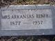 "Arkansas ""Cansas"" <I>Hawkins</I> Renfro"