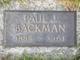 Profile photo:  Paul J. Backman