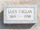 Lucy Frances <I>Cravens</I> Callan