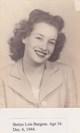 Bettye Lois <I>Burgess</I> Cabiniss