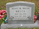 Profile photo:  Agnes M. <I>Baugh</I> Bruce
