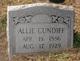 Allie <I>Fulks</I> Cundiff
