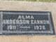"""Alma Anderson """" """" <I> </I> Cannon"""