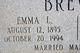 Emma <I>Lamb</I> Brewer