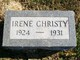 "Profile photo:  Elta Irene ""Irene"" Christy"