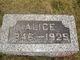 Profile photo:  Alice <I>Lee</I> Slaughter