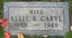 "Profile photo:  Almira K. ""Allie"" <I>Stone</I> Caryl"