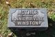 Profile photo:  Annie <I>Irvine</I> Winston