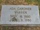 Profile photo:  Ada <I>Gardner</I> Warren