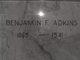 Benjamin Frank Adkins