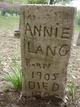 Profile photo:  Annie Lang