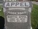 Martha <I>Harshbarger</I> Appel