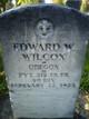 Pvt Edward W. Wilcox