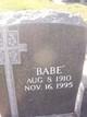 "Profile photo:  ""Babe"" Bennett"