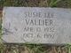 Susie Lee <I>Mitchell</I> Vallier