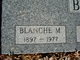 Blanche M Brown